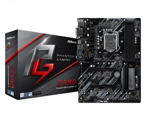 Tarjeta Madre ASRock Z390 Phantom Gaming 4, S-1151, Intel Z390, HDMI, 64GB DDR4 para Intel ― Compatibles solo con 8va y/o  9va Generación (Revisar modelos aplicables)