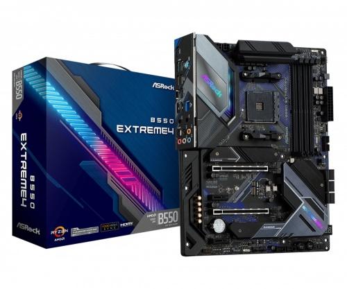 Tarjeta Madre ASRock ATX B550 Extreme4, S-AM4, AMD B550, HDMI, 128GB DDR4 para AMD ― No es Compatible con AMD Ryzen 5 3400G y Ryzen 3 3200G (Revisar Compatibilidades en la Página del Fabricante)