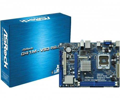 Tarjeta Madre ASRock micro ATX G41M-VS3 R2.0, S-775, Intel G41, 8GB DDR3 para Intel