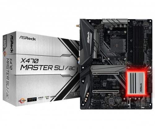 Tarjeta Madre ASRock ATX X470 MASTER SLI/AC, S-AM4, AMD Promontory X470, HDMI, 64GB DDR4 para AMD