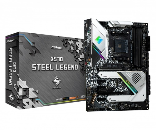 Tarjeta Madre ASRock ATX X570 Steel Legend, S-AM4, AMD X570, HDMI, 128GB DDR4 para AMD