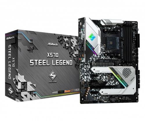 Tarjeta Madre ASRock ATX X570 Steel Legend, S-AM4, AMD X570, HDMI, 128GB DDR4 para AMD — Requiere Actualización del BIOS para la Serie Ryzen 5000