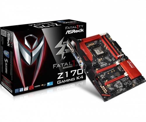 Tarjeta Madre ASRock ATX Fatal1ty Z170 GAMING K4, S-1151, Intel Z170, HDMI, 64GB DDR4, para Intel