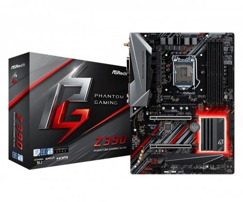 Tarjeta Madre ASRock ATX Z390 Phantom Gaming SLI/ac, S-1151, Intel Z390, HDMI, 128GB DDR4 para Intel ― Compatibles solo con 8va & 9va Generación