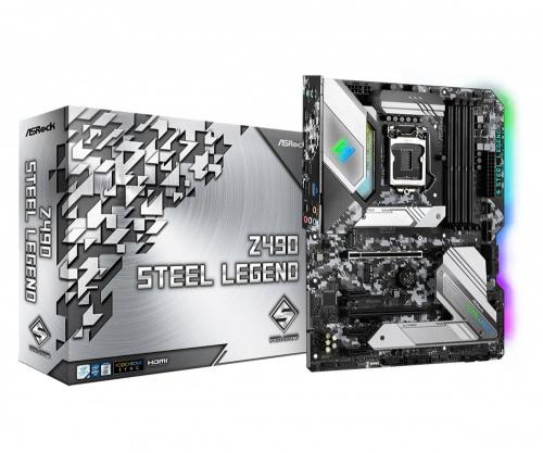 Tarjeta Madre ASRock ATX Z490 STEEL LEGEND, S-1200, Intel Z490, HDMI, 128GB DDR4 para Intel