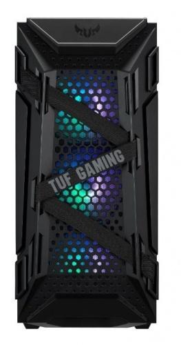 Gabinete ASUS TUF Gaming GT301 con Ventana, Midi-Tower, ATX/Micro-ATX/Mini-ATX, USB 3.2, sin Fuente, Negro