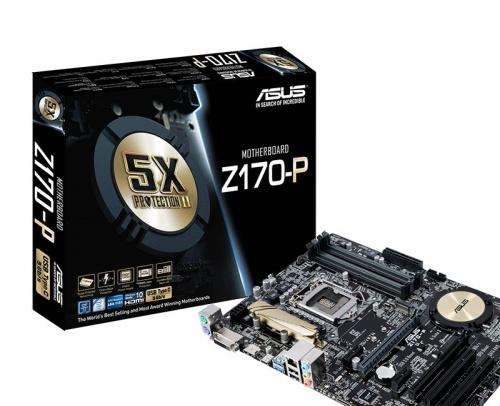 Tarjeta Madre ASUS ATX Z170-P, S-1151, Intel Z170, HDMI, USB 3.0, 64GB DDR4 para Intel