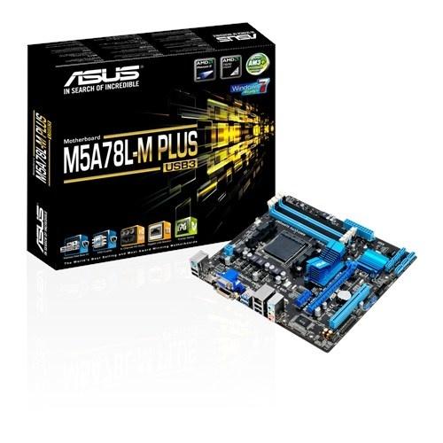 Tarjeta Madre ASUS micro ATX M5A78L-M PLUS USB3, S-AM3+, AMD 760G, HDMI,  32GB DDR3, para AMD