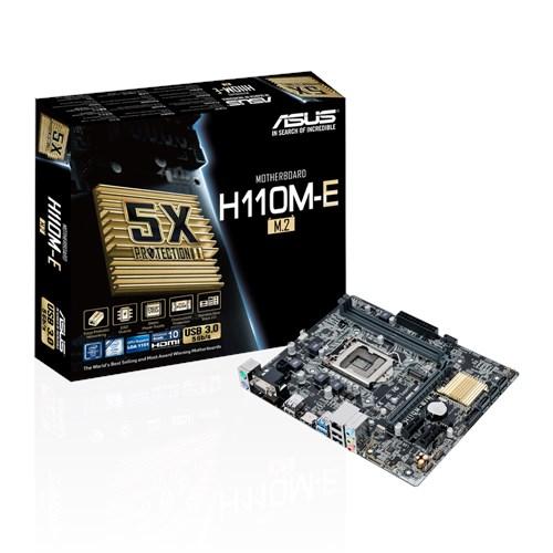 Tarjeta Madre ASUS micro ATX H110M-E/M.2, S-1151, Intel H110, 32GB DDR4, para Intel ― Requiere Actualización de BIOS para trabajar con Procesadores de 7ma Generación
