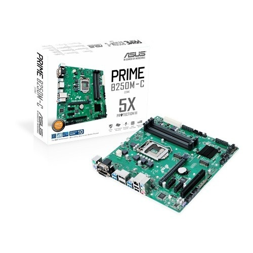 Tarjeta Madre ASUS micro ATX PRIME B250M-C, S-1151, Intel B250, HDMI, 64GB DDR4 para Intel