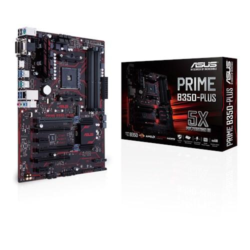 Tarjeta Madre ASUS ATX PRIME B350-PLUS, S-AM4, AMD B350, HDMI, 64GB DDR4, para AMD