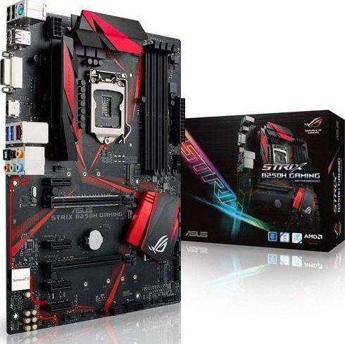 Tarjeta Madre ASUS ATX ROG Strix B250H Gaming, S-1151, Intel B250, HDMI, 64GB DDR4, para Intel