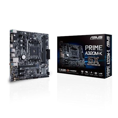 Tarjeta Madre ASUS micro ATX MB PRIME A320M-K, S-AM4, AMD A320, HDMI, 32GB DDR4 para AMD ― Requiere Actualización de BIOS para la Serie Ryzen 3000