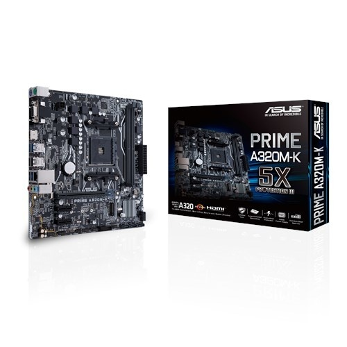 Tarjeta Madre ASUS micro ATX MB PRIME A320M-K, S-AM4, AMD A320, HDMI, 32GB DDR4 - para AMD
