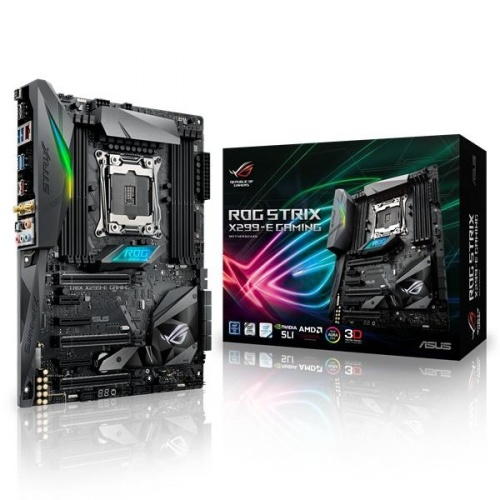 Tarjeta Madre ASUS ATX ROG STRIX X299-E GAMING, S-2066, Intel X299, 128GB DDR4, para Intel