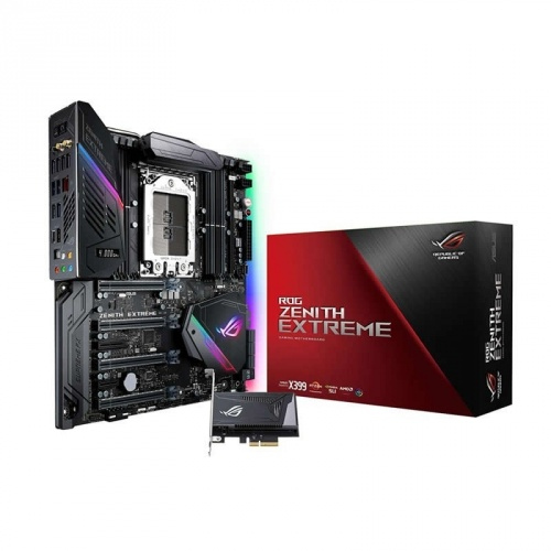 Tarjeta Madre ASUS ATX ROG ZENITH EXTREME, S-TR4, AMD X399, 128GB DDR4, para AMD