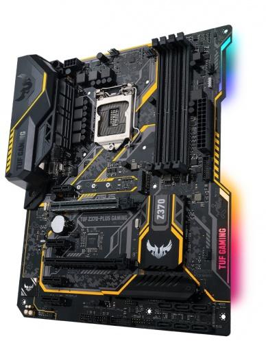 Tarjeta Madre ASUS ATX TUF Z370-PLUS GAMING, S-1151, Intel Z370, HDMI, 64GB DDR4, para Intel ― Compatibles solo para 8va Generación