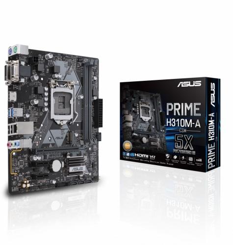 Tarjeta Madre ASUS Micro ATX PRIME H310M-A, S-1151, Intel H310, HDMI, 32GB DDR4 para Intel ― Compatibles solo con 8va & 9va Generación