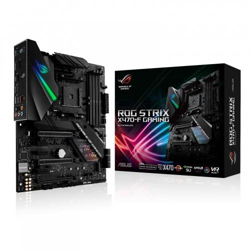 Tarjeta Madre ASUS ATX ROG STRIX X470-F GAMING, S-AM4, AMD X470, HDMI, 64GB DDR4 para AMD