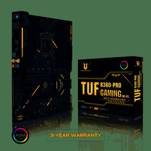 Tarjeta Madre ASUS ATX TUF B360-PRO GAMING (WI-FI), S-1151, Intel B360, HDMI, 64GB DDR4 para Intel ― Compatibles solo con 8va & 9va Generación