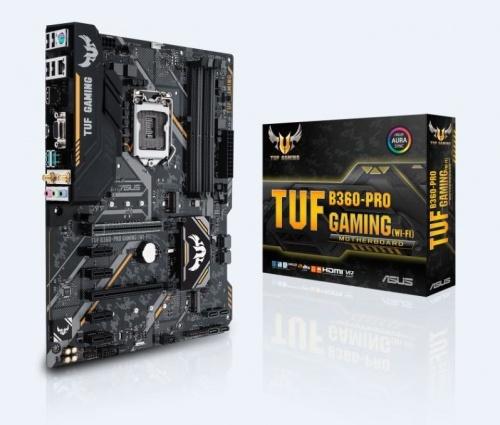 Tarjeta Madre ASUS ATX TUF B360-PRO GAMING (WI-FI), S-1151, Intel B360, HDMI, 64GB DDR4 para Intel ― Compatibles solo para 8va Generación