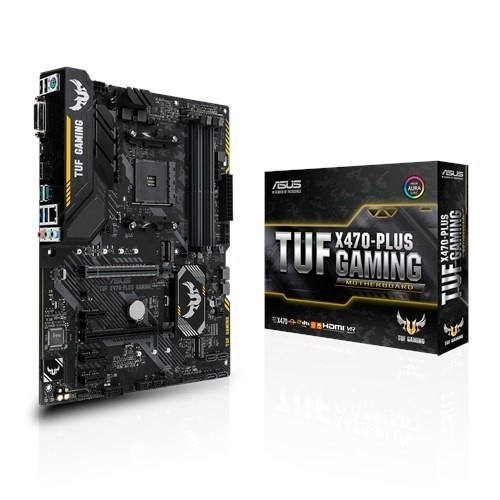 Tarjeta Madre ASUS ATX TUF X470-PLUS GAMING, S-AM4, AMD X470, HDMI, 64GB DDR4 para AMD