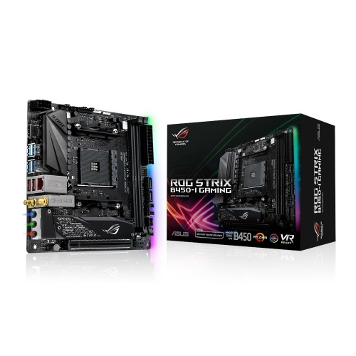 Tarjeta Madre ASUS mini ITX ROG STRIX B450-I GAMING, S-AM4, AMD B450, HDMI, 32GB DDR4 para AMD