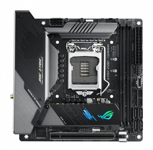 Tarjeta Madre ASUS Mini ITX ROG STRIX Z490-I GAMING, S-1200, Intel Z490, HDMI, 64GB DDR4 para Intel