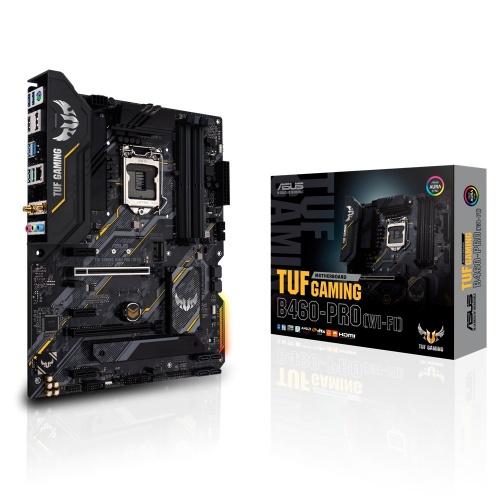 Tarjeta Madre ASUS ATX TUF GAMING B460-PRO (WI-FI), S-1200, Intel B460, HDMI, 128GB DDR4 para Intel