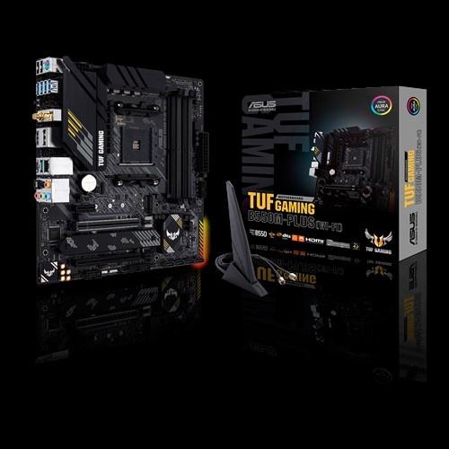 Tarjeta Madre ASUS Micro ATX B550M PLUS TUF Gaming WI-FI, S-AM4, AMD B550, HDMI, max. 128GB DDR4 para AMD