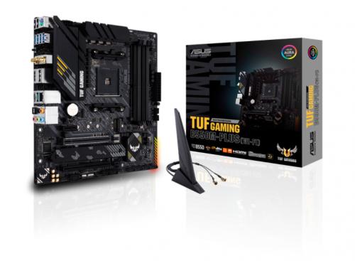 Tarjeta Madre ASUS Micro ATX B550M PLUS TUF Gaming WI-FI, S-AM4, AMD B550, HDMI, max. 128GB DDR4 para AMD — Requiere Actualización de BIOS para la Serie Ryzen 5000