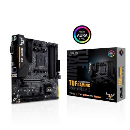 Tarjeta Madre ASUS Micro ATX TUF Gaming B450M-Plus II, S-AM4, AMD B450, HDMI, 128GB DDR4  para AMD ― Requiere Actualización de BIOS para Ryzen Serie 5000