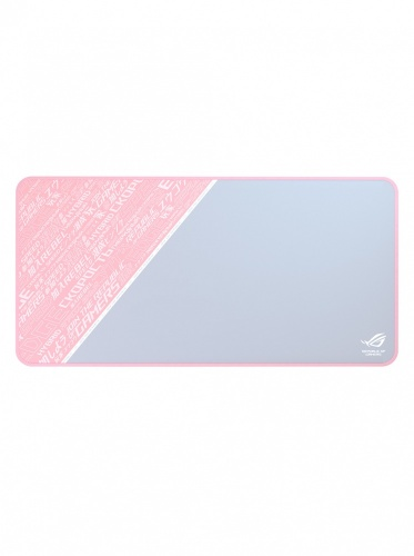 Mousepad Gamer ASUS ROG Sheath PNK LTD, 99cm x 44cm, Grosor 3mm, Gris/Rosa/Blanco
