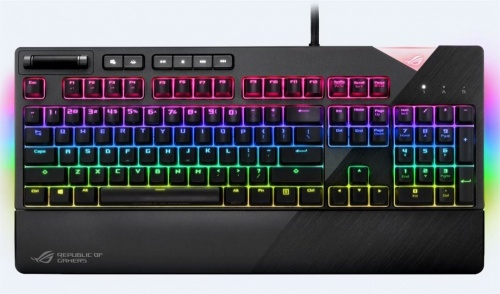 Teclado Gamer ASUS XA01 ROG Strix Flare RGB, Teclado Mecánico, Cherry MX Red, Alámbrico, Negro (Inglés)