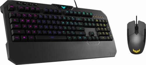 Kit Gamer de Teclado y Mouse ASUS incluye TUF Gaming K5 + TUF Gaming M5, Alámbrico, USB, Negro (Inglés)
