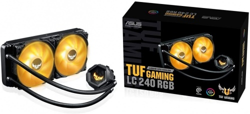 ASUS TUF Gaming LC 240 RGB con Aura Sync RGB Enfriamiento Liquido para CPU, 120mm, 800 - 2000RPM