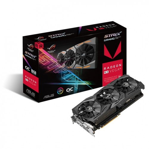 Tarjeta de Video ASUS AMD Radeon RX Vega 56 ROG Strix Gaming OC, 8GB 2048-bit HBM2, PCI Express 3.0