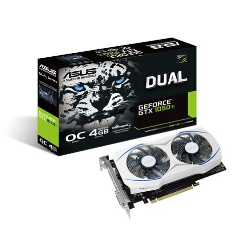 Tarjeta de Video Asus NVIDIA GeForce GTX 1050 Ti OC, 4GB 128-bit GDDR5, PCI Express 3.0