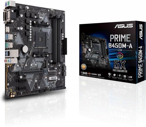Tarjeta Madre ASUS micro ATX PRIME B450M-A/CSM, S-AM4, AMD B450, HDMI, 64GB DDR4 para AMD