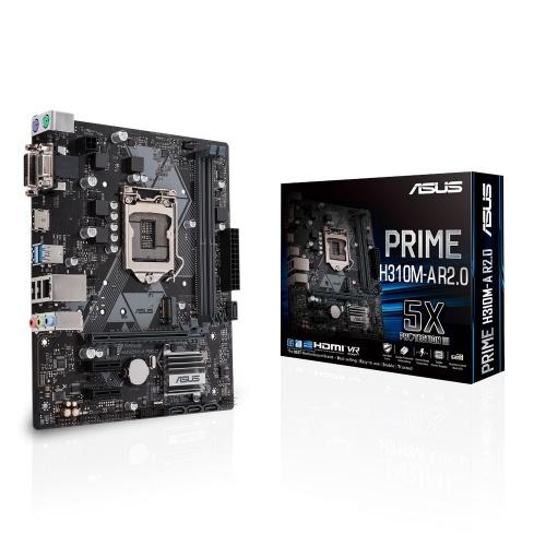Tarjeta Madre ASUS micro ATX PRIME H310M-A R2.0, S-1151, Intel H310, HDMI, 32GB DDR4 para Intel ― Compatibles solo con 8va y/o  9va Generación (Revisar modelos aplicables)