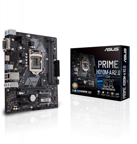 Tarjeta Madre ASUS Micro ATX PRIME H310M-A R2.0/CSM, S-1151, Intel H310, HDMI, 32GB DDR4 para Intel ― Compatibles solo con 8va & 9va Generación (Revisar modelos aplicables)