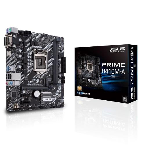 Tarjeta Madre ASUS Micro ATX PRIME H410M-A/CSM, S-1200, Intel H410, HDMI, 64GB DDR4 para Intel