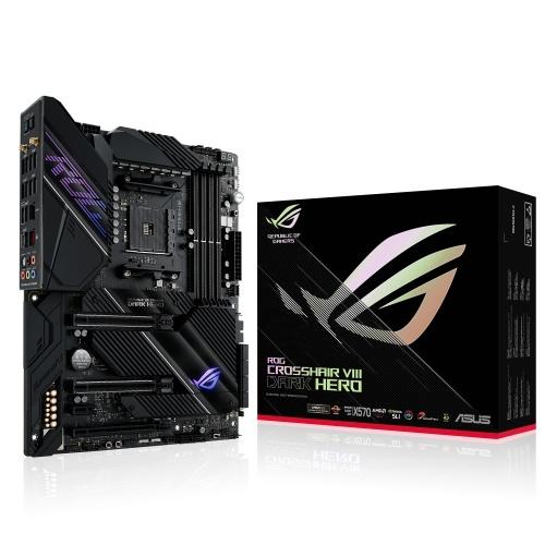 Tarjeta Madre ASUS ATX ROG Crosshair VIII Dark Hero, S-AM4, AMD X570, 128GB DDR4 para AMD
