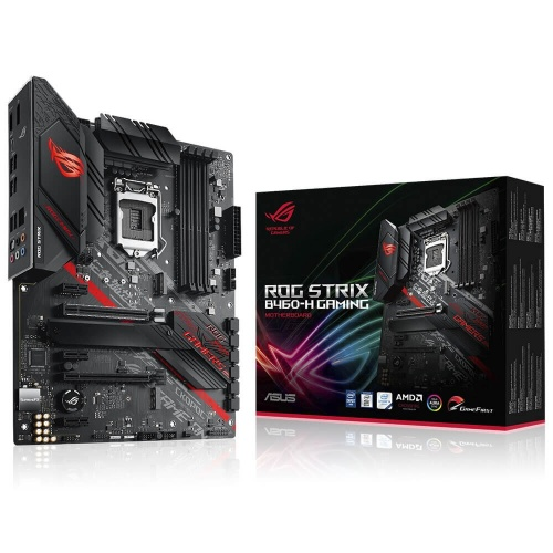 Tarjeta Madre ASUS ATX ROG STRIX B460-H GAMING, S-1200, Intel B460, HDMI, 128GB DDR4 para Intel