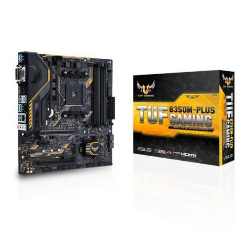 Tarjeta Madre ASUS microATX TUF B350M-PLUS GAMING, S-AM4, AMD B350, HDMI, USB 3.0, 64GB DDR4 para AMD