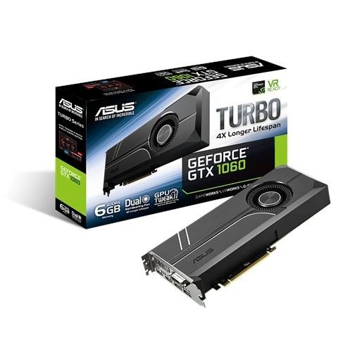 Tarjeta de Video ASUS NVIDIA GeForce GTX 1060 Turbo, 6GB 192-bit GDDR5, PCI Express 3.0 ― ¡Compra y recibe $100 pesos de saldo para tu siguiente pedido!