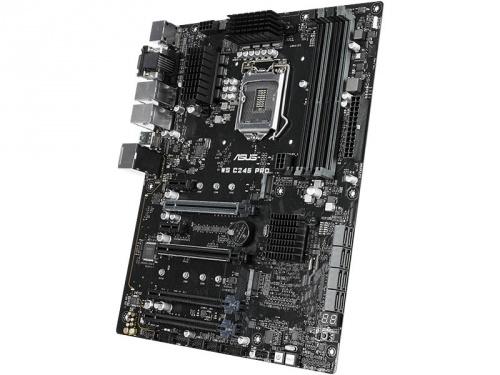 Tarjeta Madre ASUS ATX WS C246 PRO, S-1151, Intel C246, HDMI, 64GB DDR4 para Intel