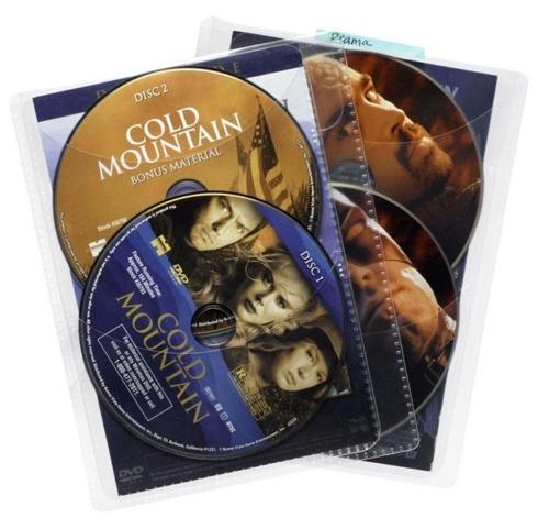 Atlantic Sobre para CD/DVD, 50 Discos, Transparente