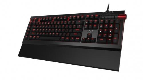 Teclado Gamer AZIO MGK-ARMATO-01 LED Rojo, Teclado Mécanico, Cherry MX Brown, Alámbrico, Negro (Inglés)
