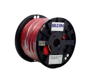 Belden Bobina de Cable de Señal 2 Conductores, 305 Metros, Rojo